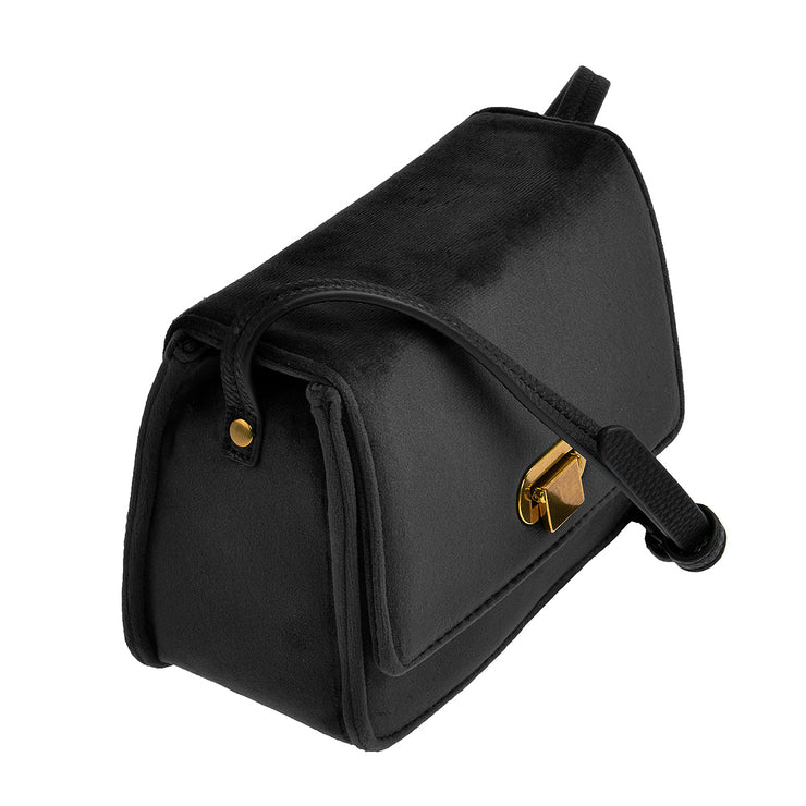 Marc O'Polo Crossbody Bag Samt in Schwarz 2