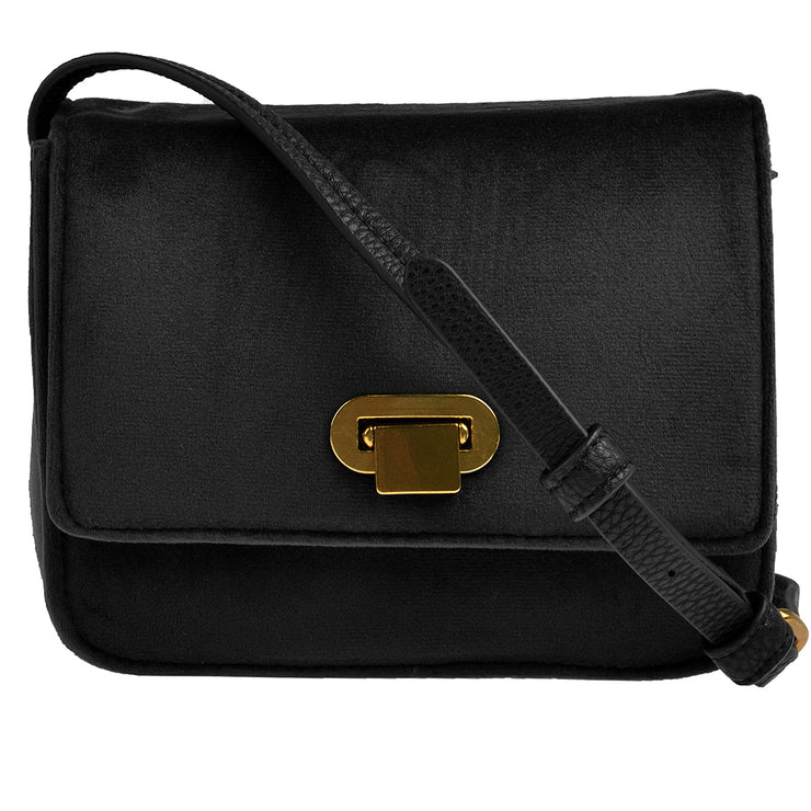 Marc O'Polo Crossbody Bag Samt in Schwarz 3