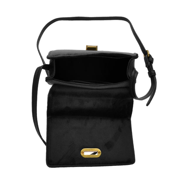 Marc O'Polo Crossbody Bag Samt in Schwarz 4