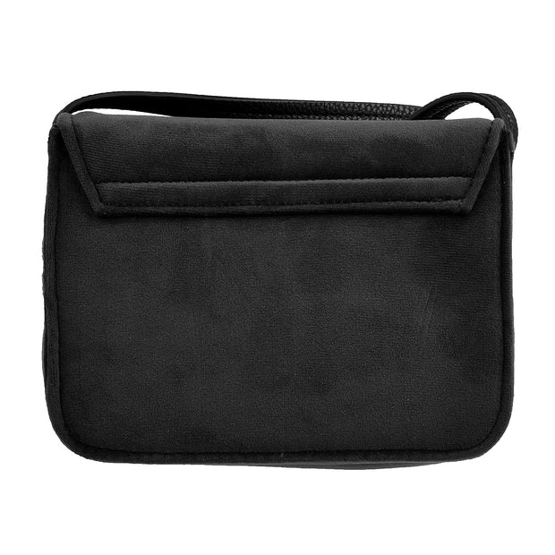 Marc O'Polo Crossbody Bag Samt in Schwarz