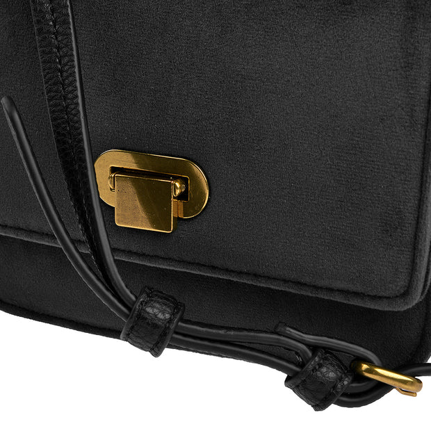 Marc O'Polo Crossbody Bag Samt in Schwarz 8