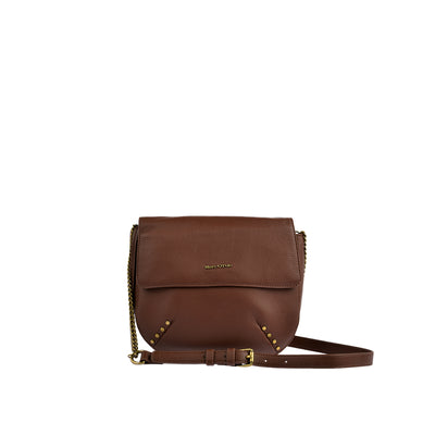 Marc O'Polo Umhängetasche Bag S in Dark Cognac 1