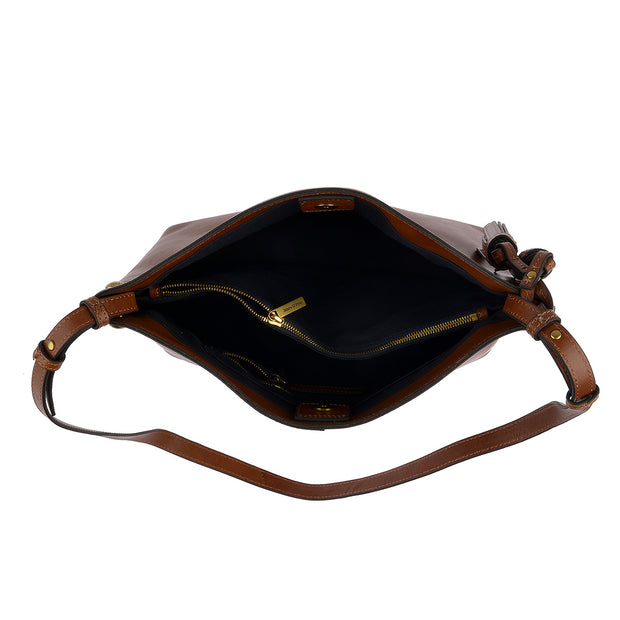 Marc O'Polo Hobo Bag Ricarda in Cognac 4