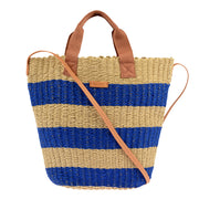 Marc O'Polo Bast Shopper in Natur/Blau 3