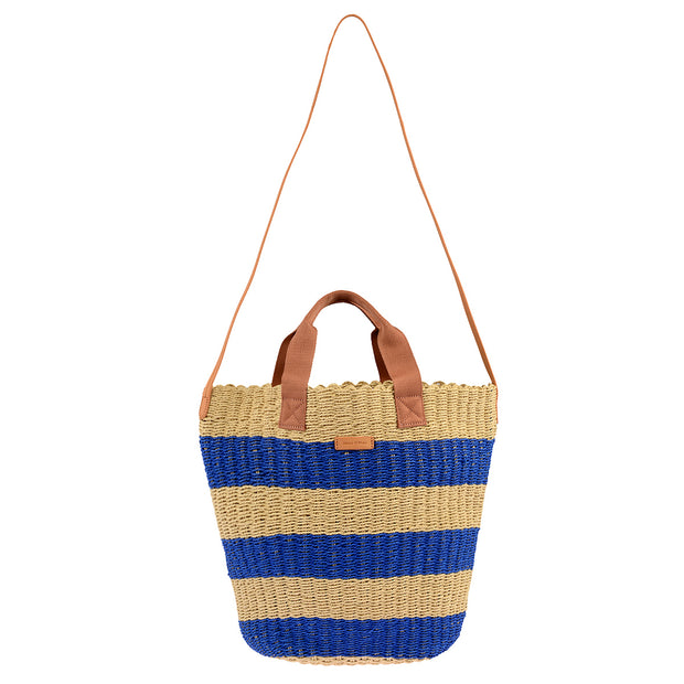 Marc O'Polo Bast Shopper in Natur/Blau 6