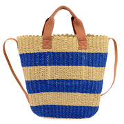 Marc O'Polo Bast Shopper in Natur/Blau 7