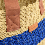 Marc O'Polo Bast Shopper in Natur/Blau