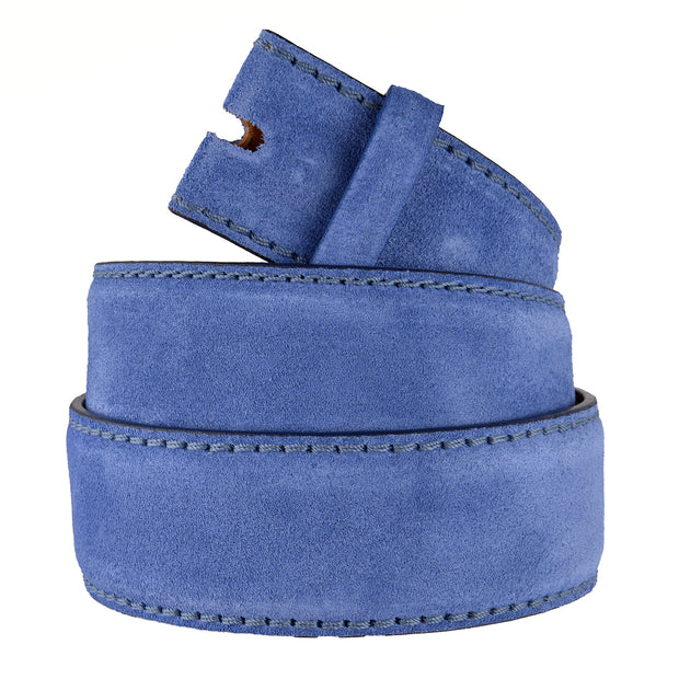 Reptile's House Gürtel Velour in Royalblau 4cm 2