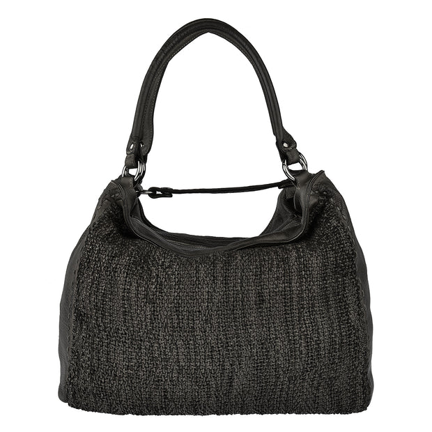 Reptile's House Ledertasche WAVE in Schwarz