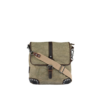 SURI FREY Umhängetasche Canvas Flap in Khaki 1