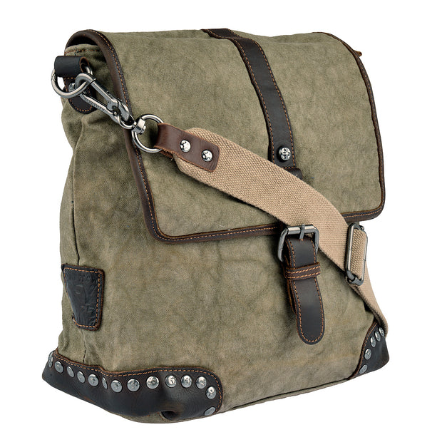 SURI FREY Umhängetasche Canvas Flap in Khaki 2