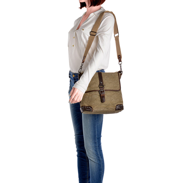 SURI FREY Umhängetasche Canvas Flap in Khaki 5