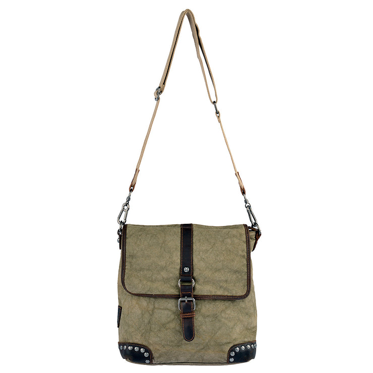 SURI FREY Umhängetasche Canvas Flap in Khaki 6