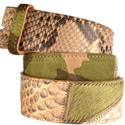 UmjuBELT Gürtel Python-Patchwork Mixed Colours in Khaki 2