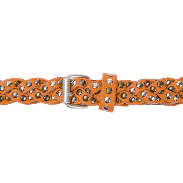 b.belt Gürtel geflochten in Orange 3