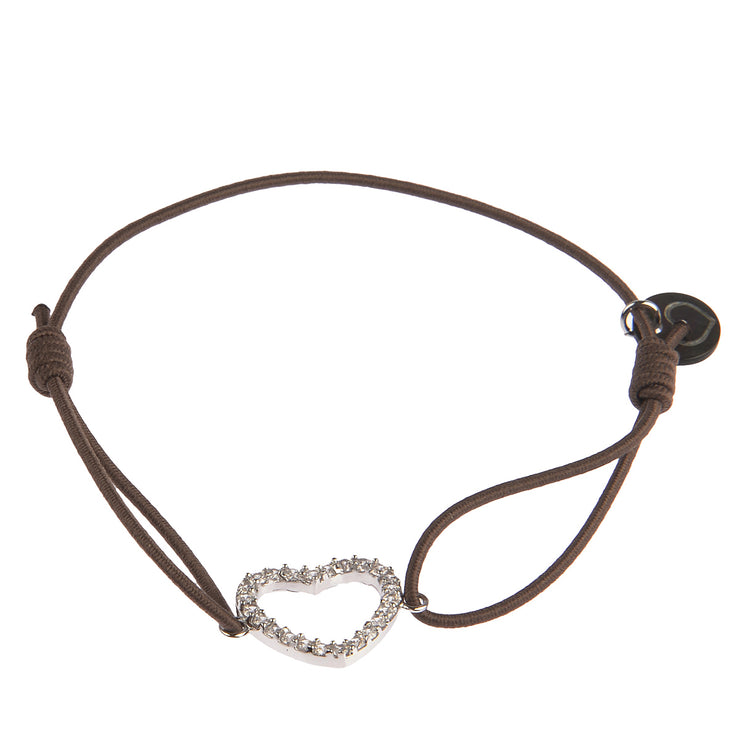 lua accessories Armband Heart in Taupe 1