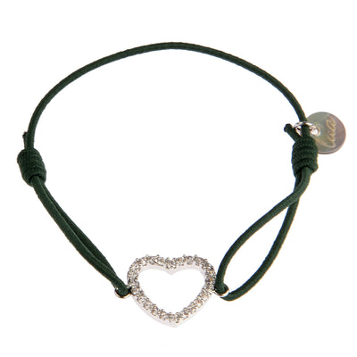lua accessories Armband Heart in Dunkelgrün 1