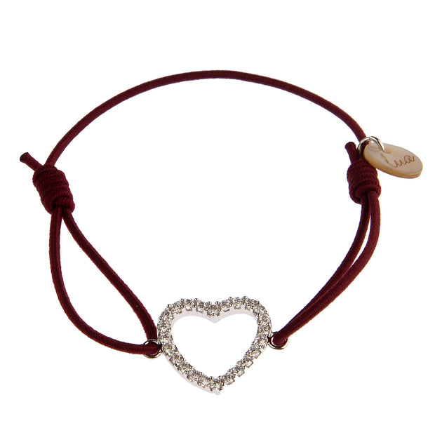 lua accessories Armband Heart in Bordeaux 1