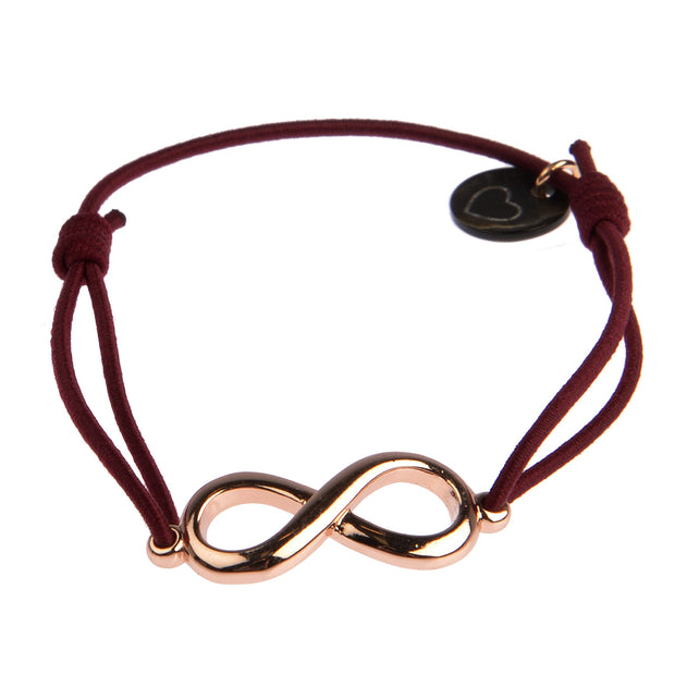 lua accessories Armband Endless Rosé in Bordeaux 1