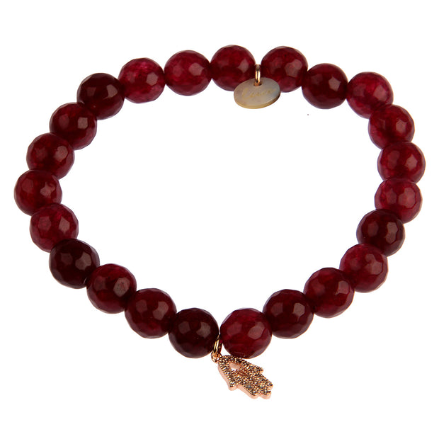 lua accessories Armband Bonnie in Bordeaux 1