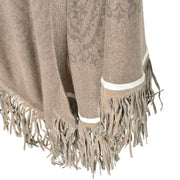 my cosy couture Poncho Chloe Riva mit Fransen in Braun