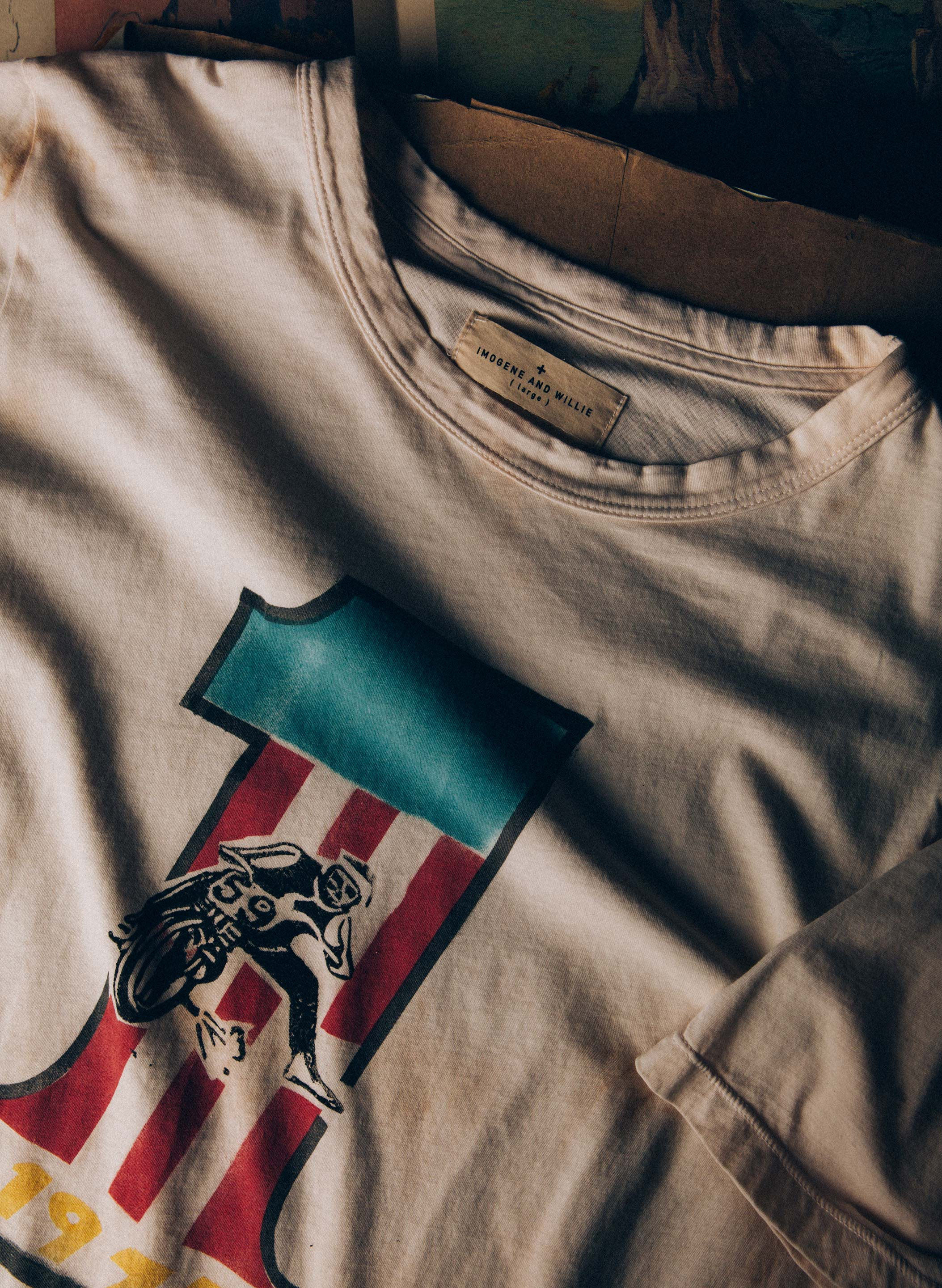 "imogene + willie - handpainted ""grand national"" tee"