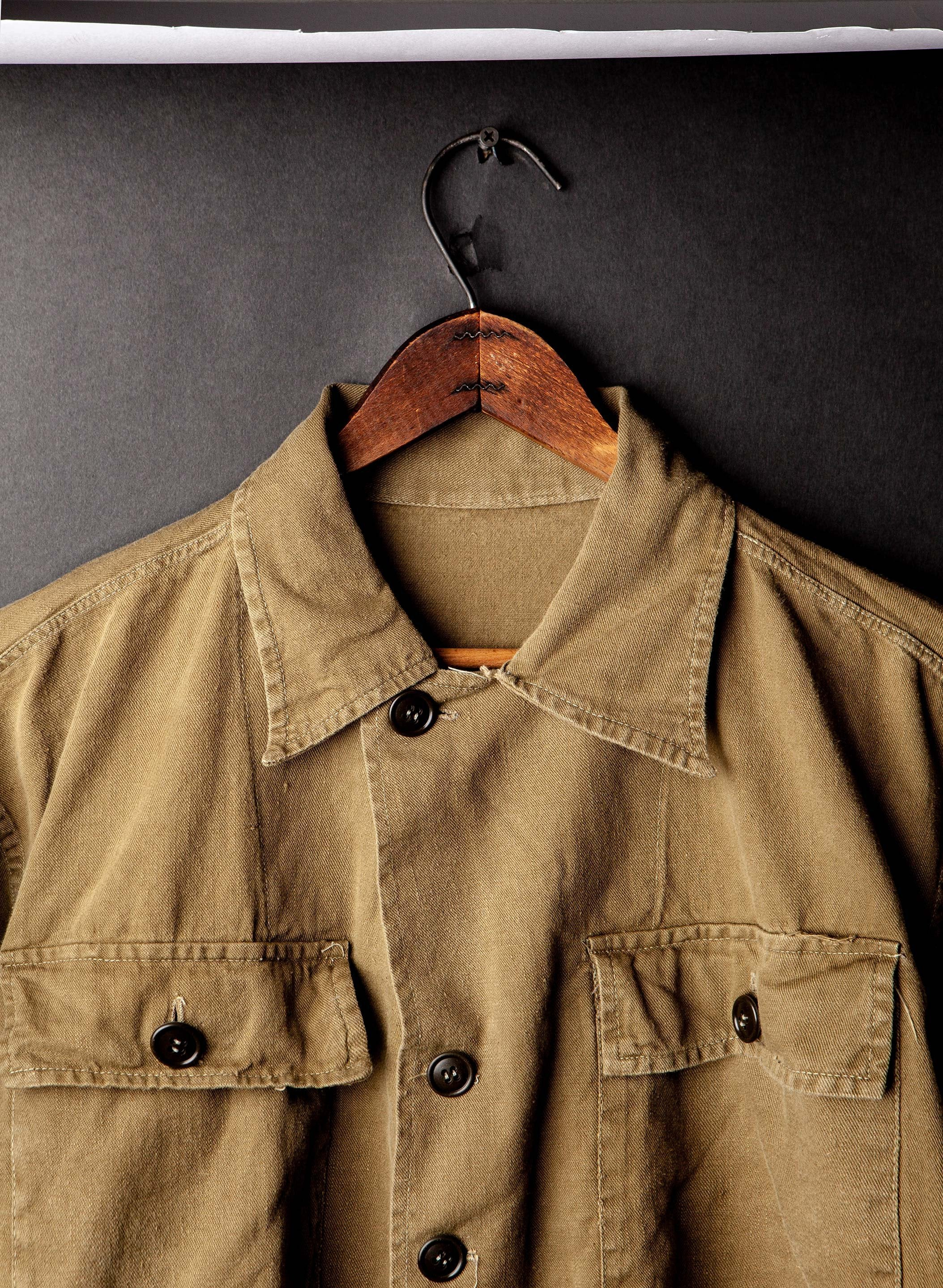 "imogene + willie - stitched ""21st TAS 5"" military jacket"