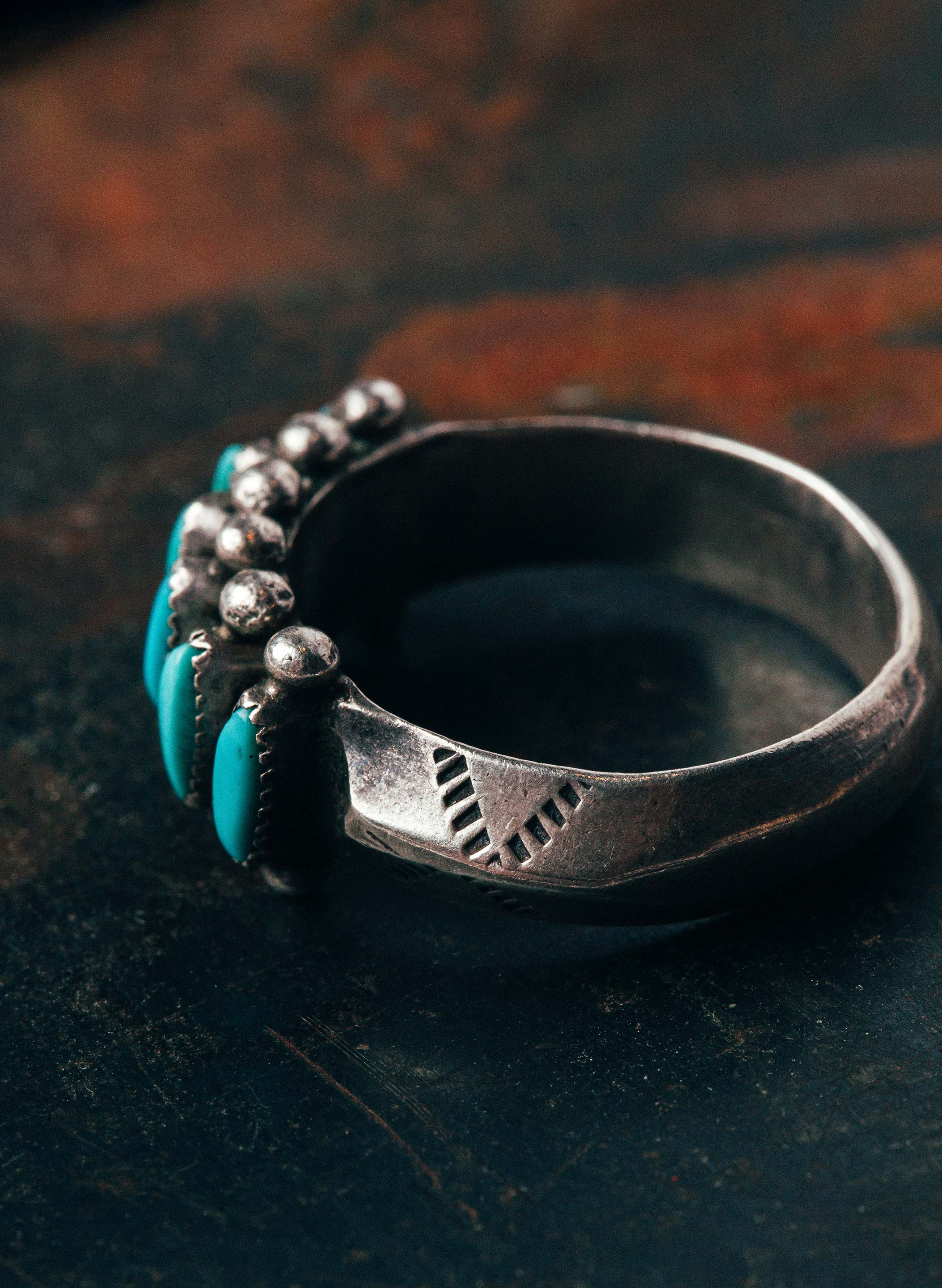 "imogene + willie - vintage ""łewe"" turquoise ring"
