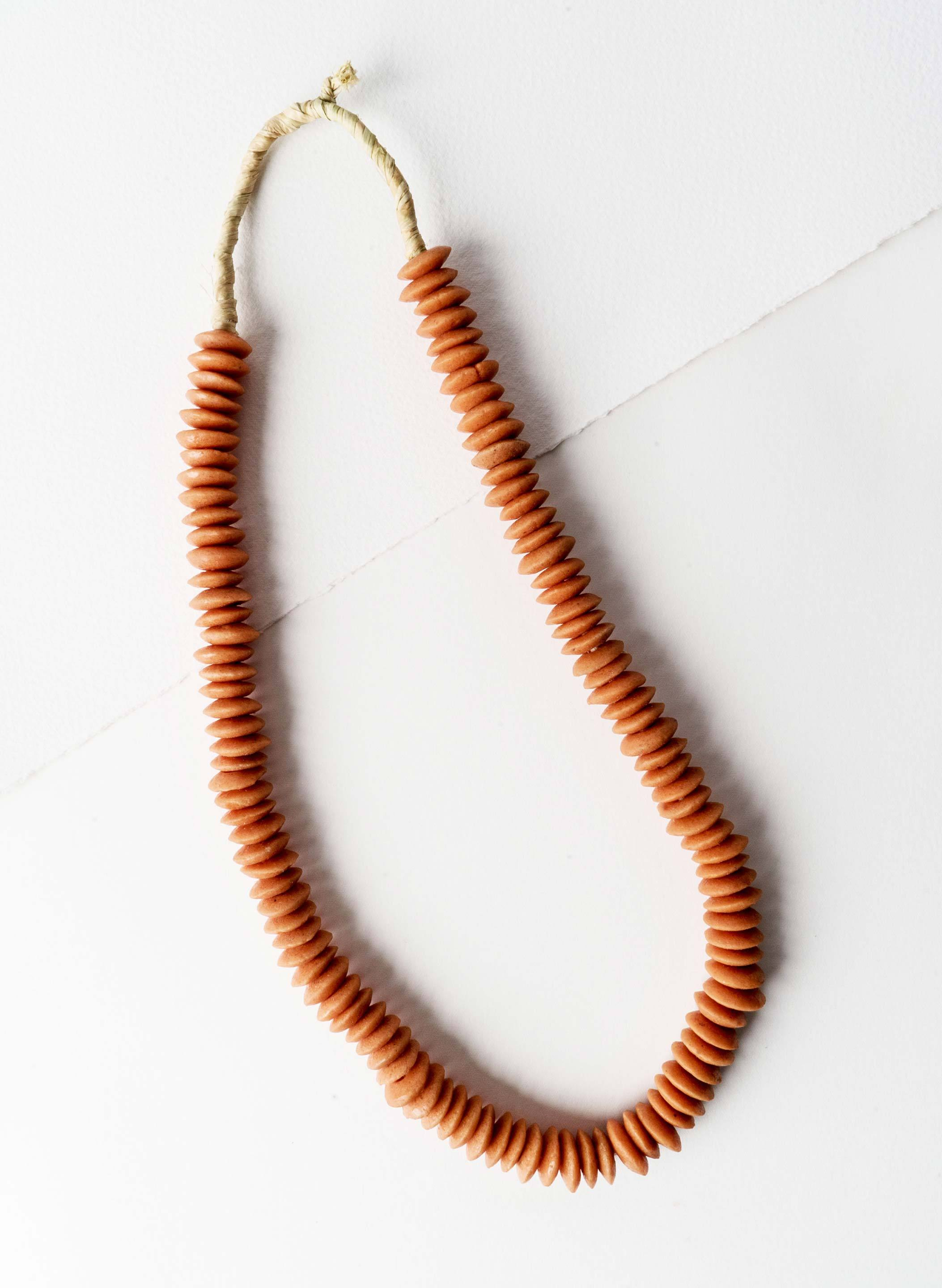 "imogene + willie - vintage ""sea glass"" neckace (salmon)"