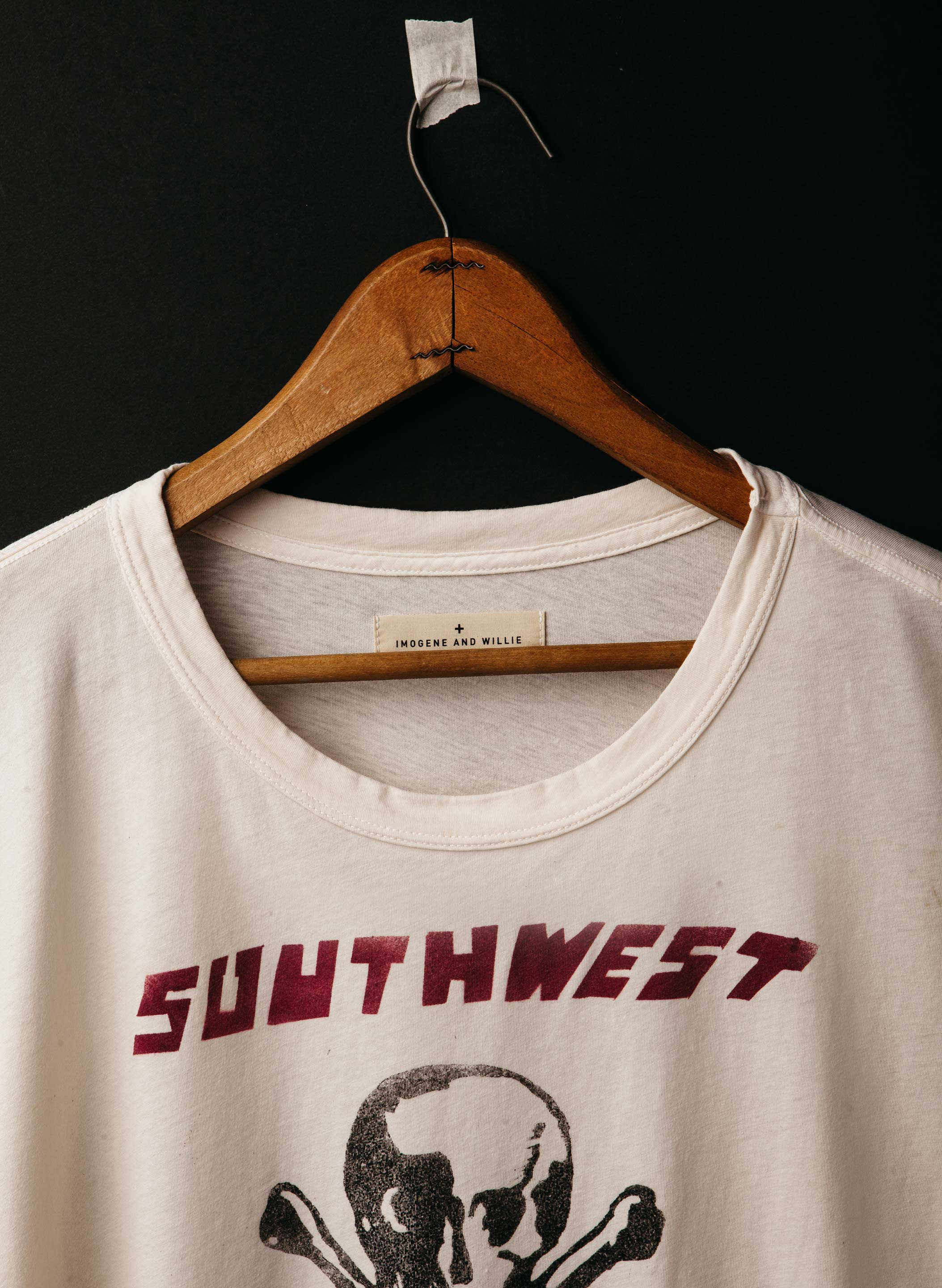 "imogene + willie - handpainted ""district champs"" tee"