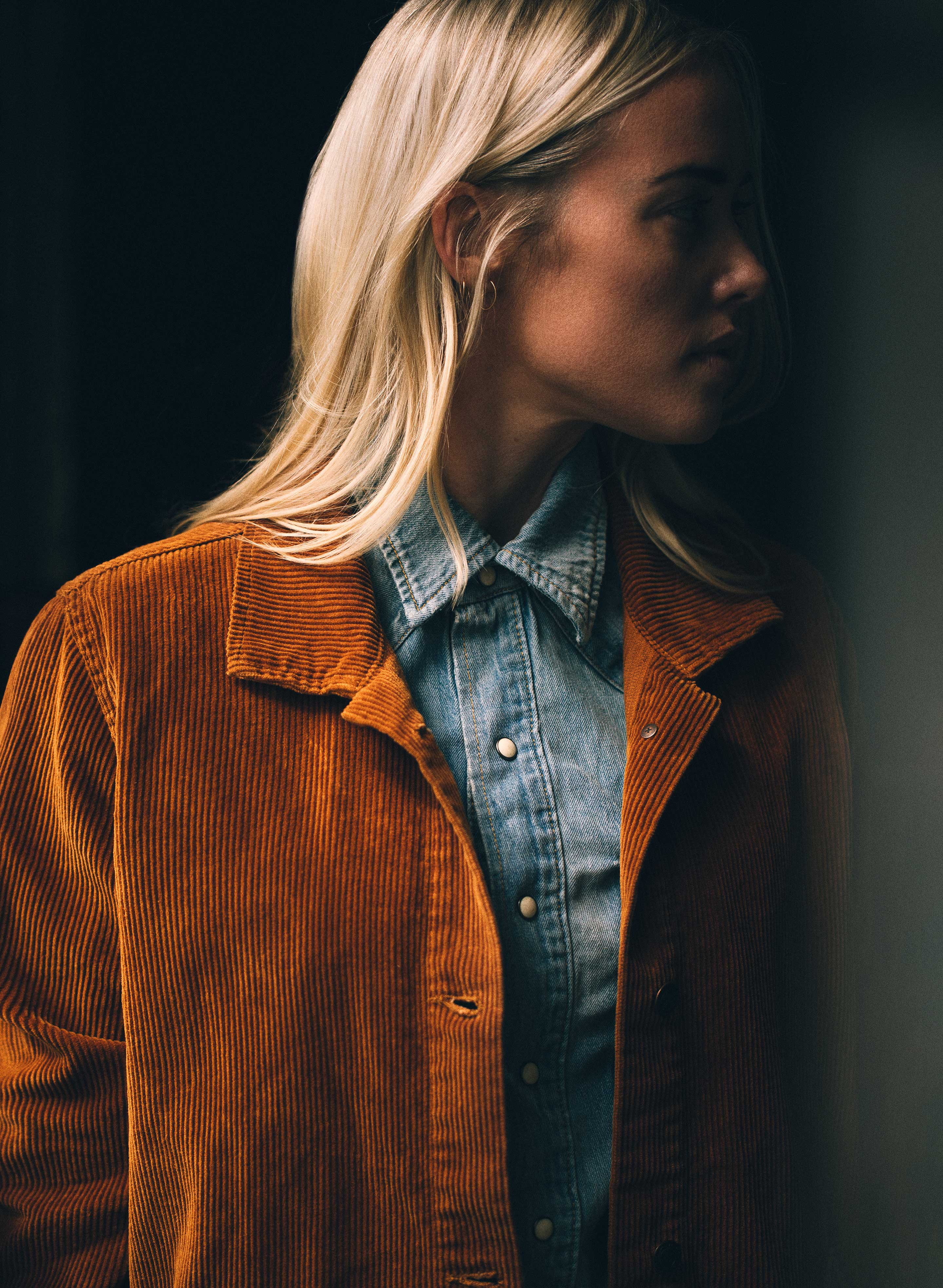 imogene + willie - agnes jacket in greenwich brown