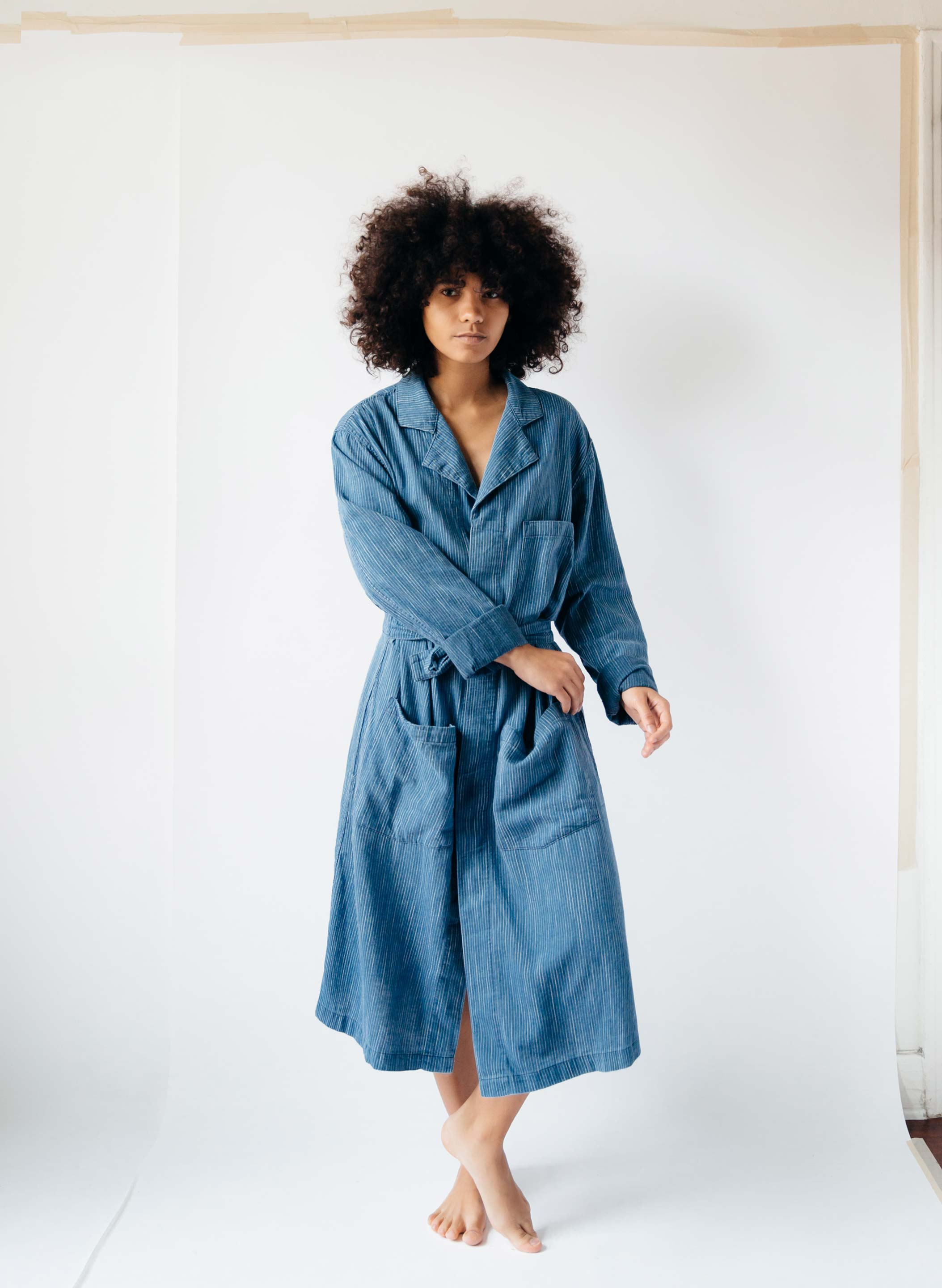 imogene + willie - anni faded indigo painter's coat