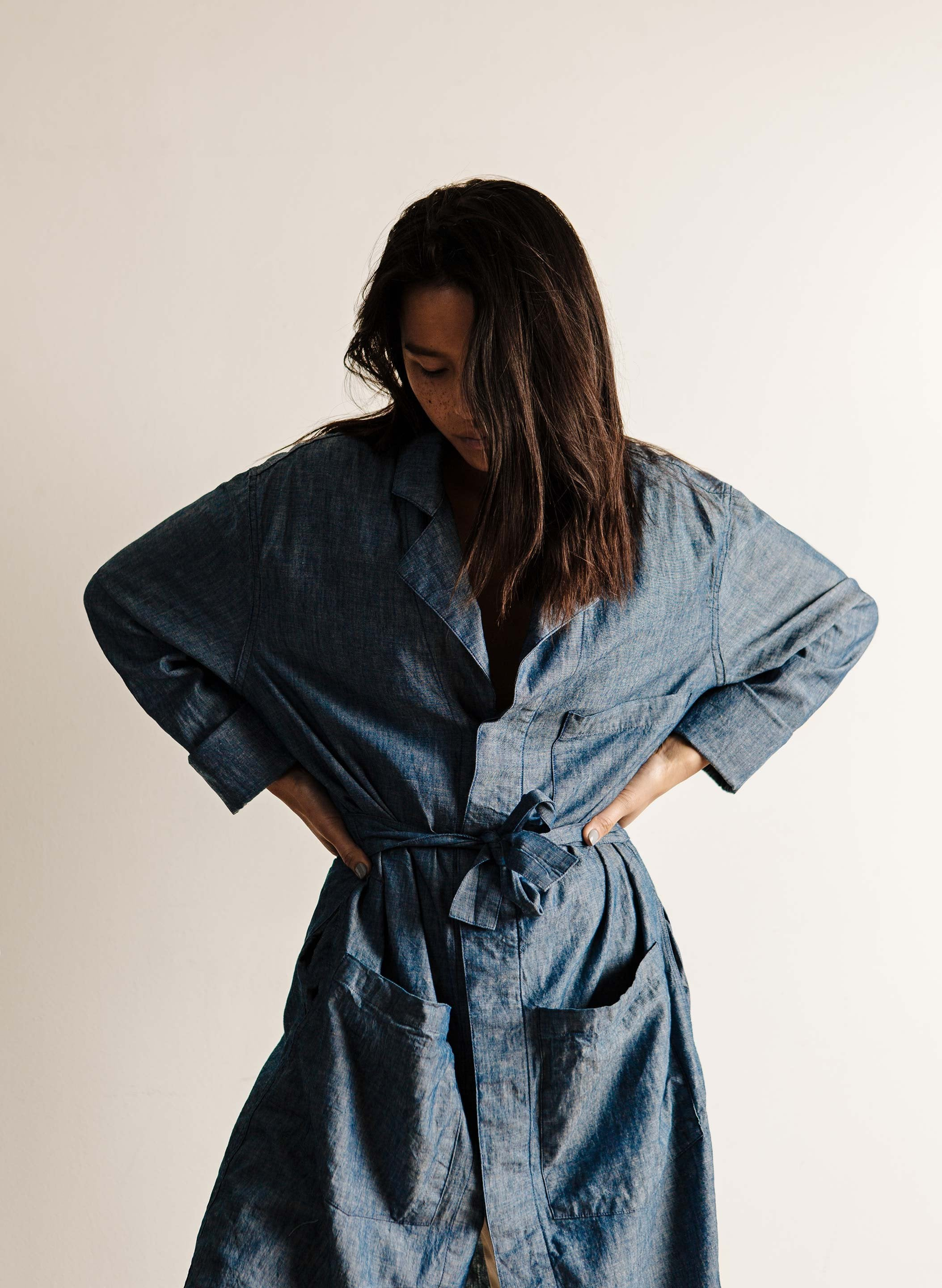 imogene + willie - anni chambray painter's coat