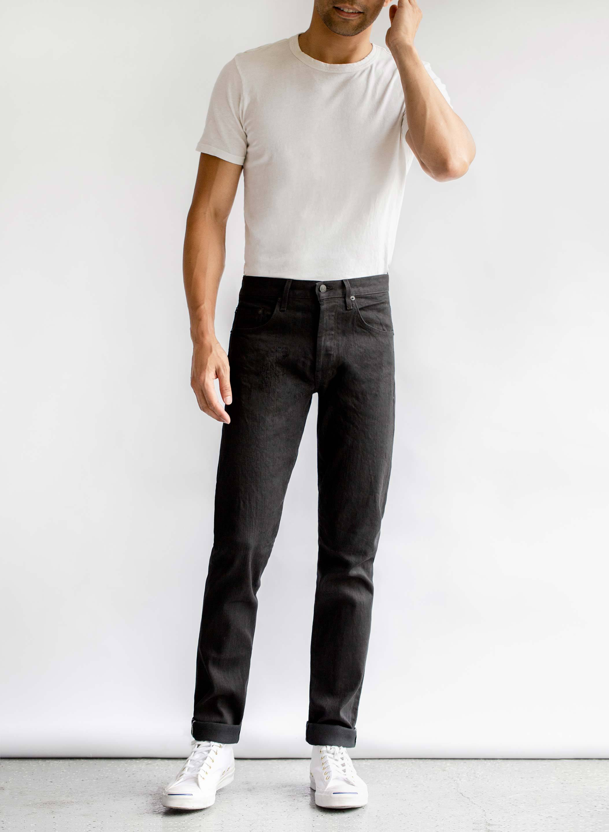 imogene + willie - barton slim black selvage rinse