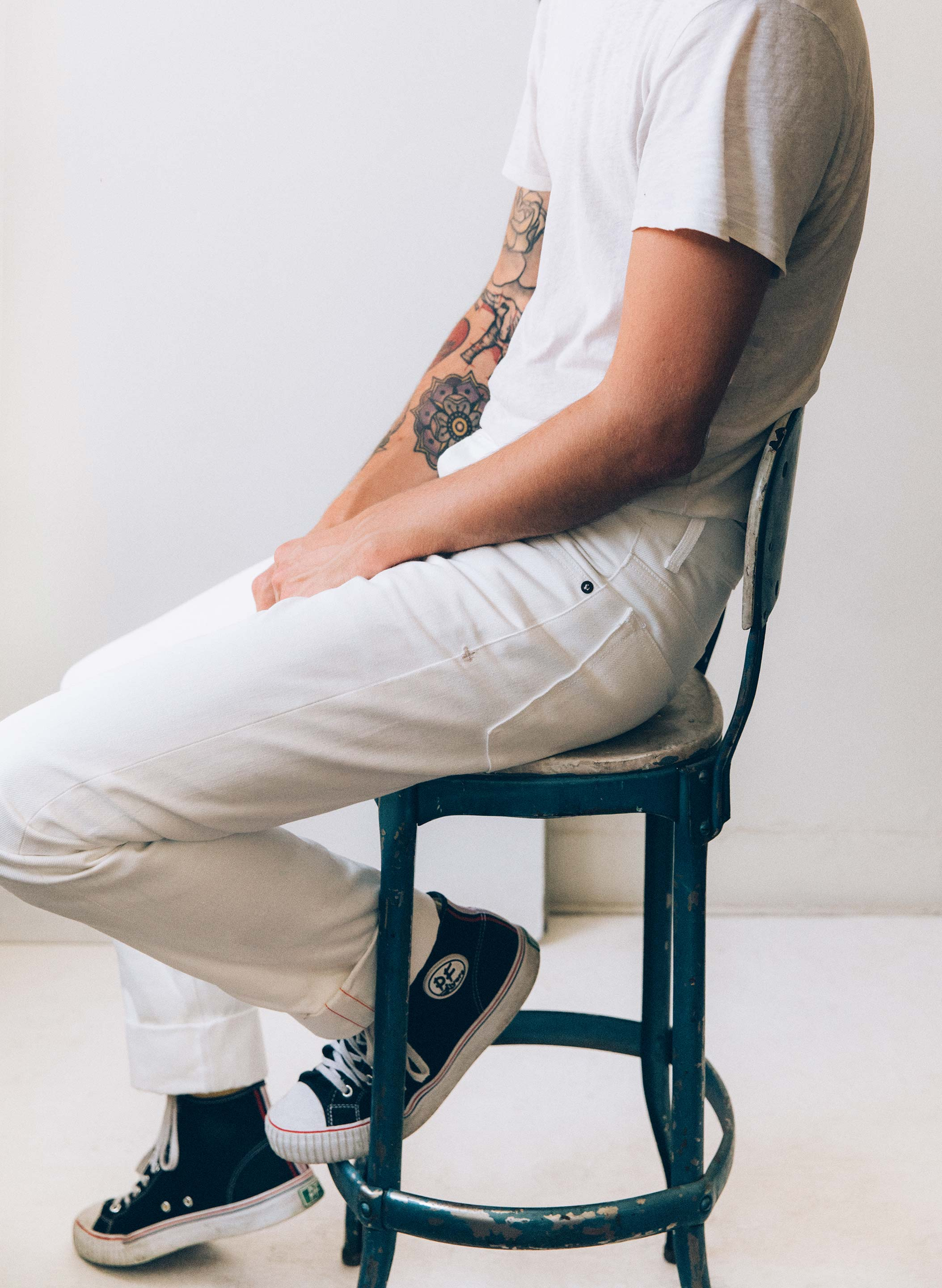 imogene + willie - barton slim white selvage