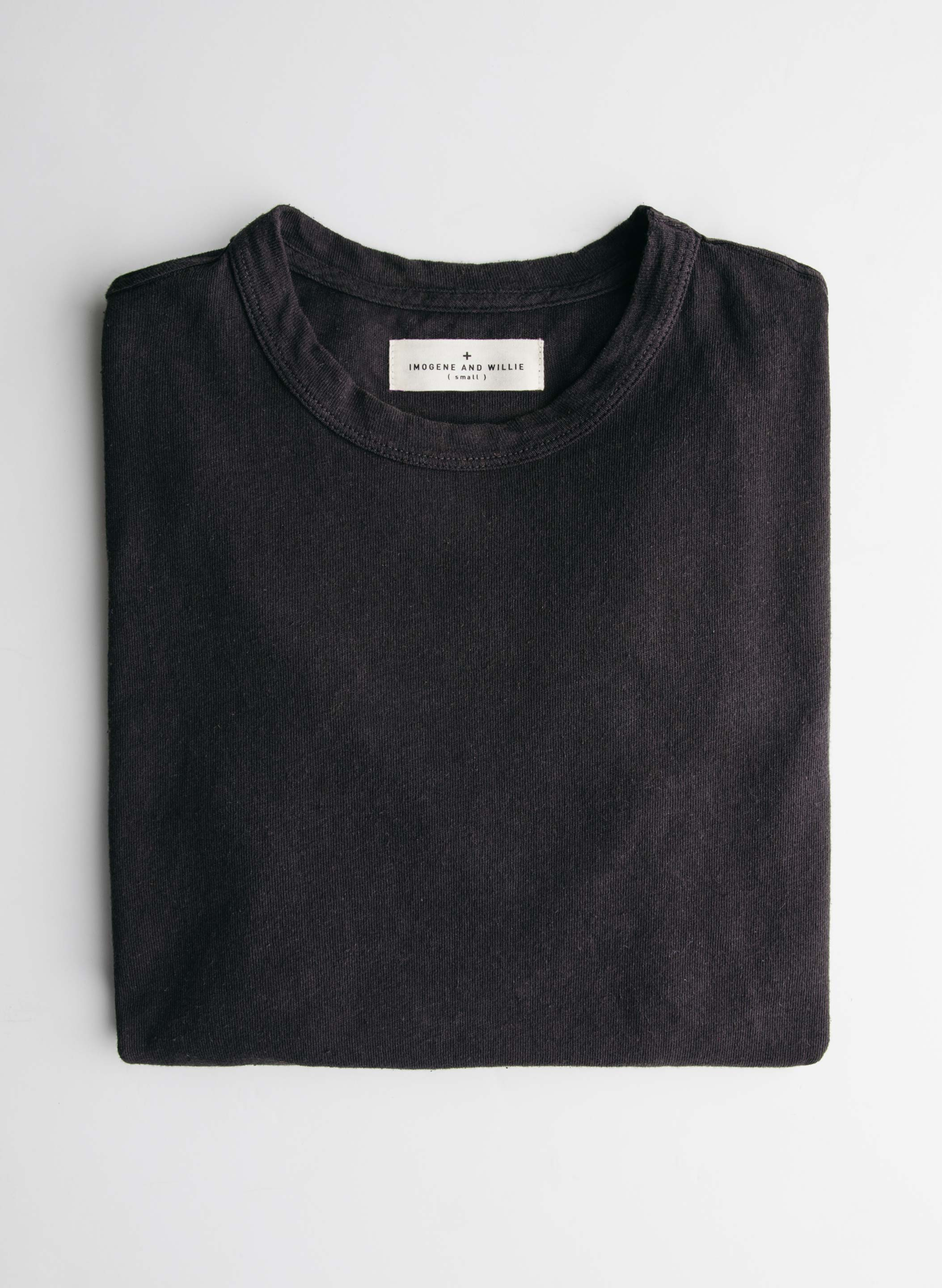 imogene + willie - black knit midweight crew