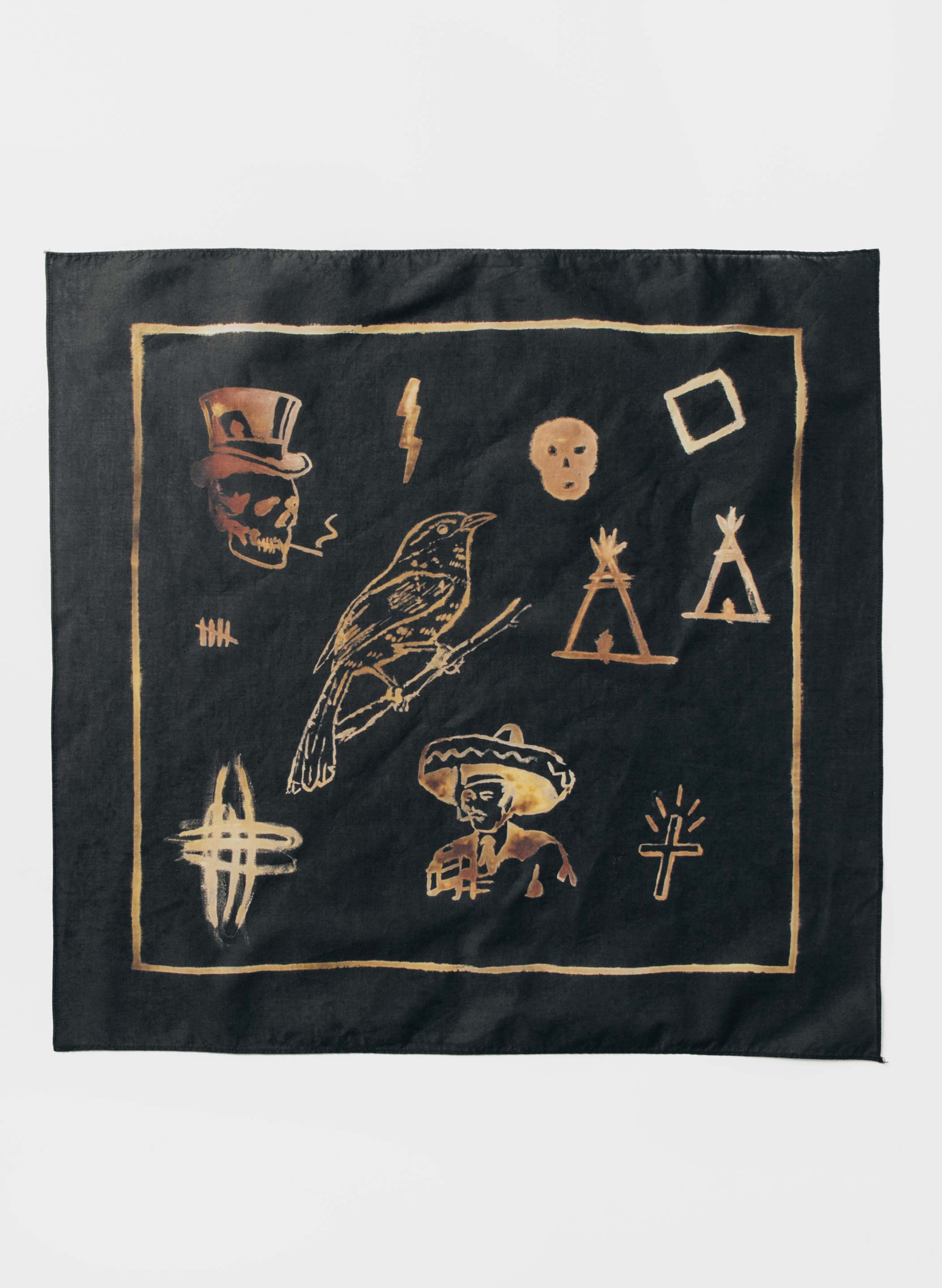 "imogene + willie - handpainted ""lost time"" bandana"