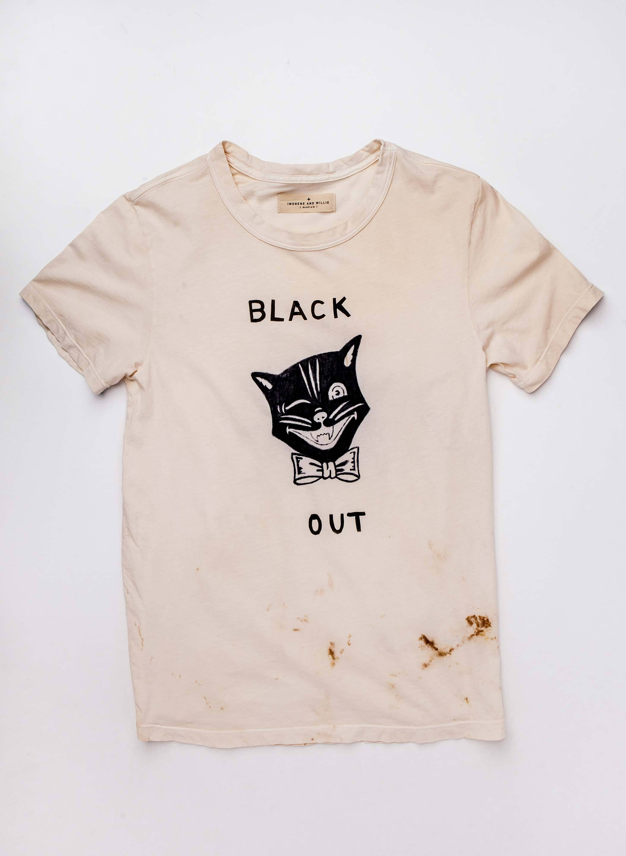 "imogene + willie - the handpainted ""blackout"" tee"