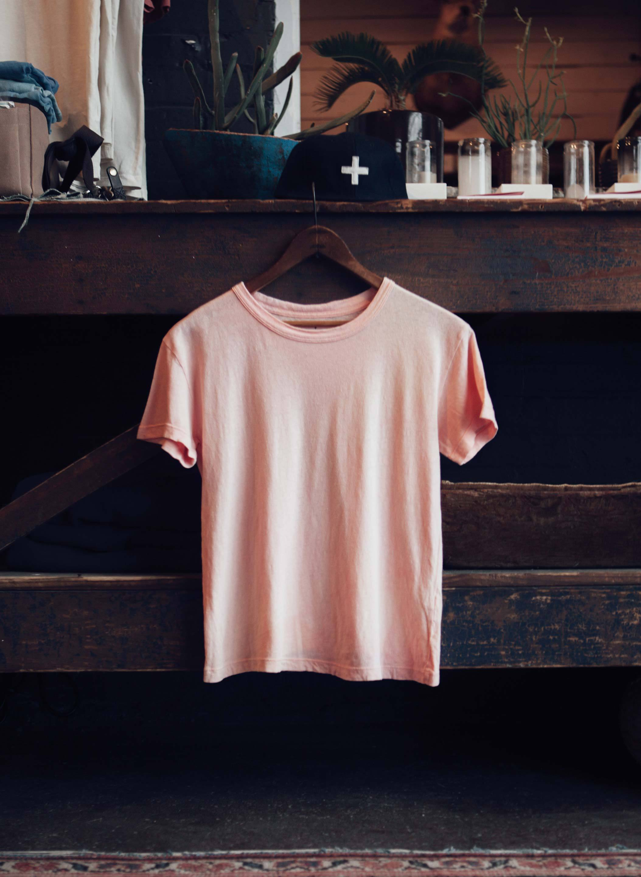imogene + willie - drop tee in sunbleached blush