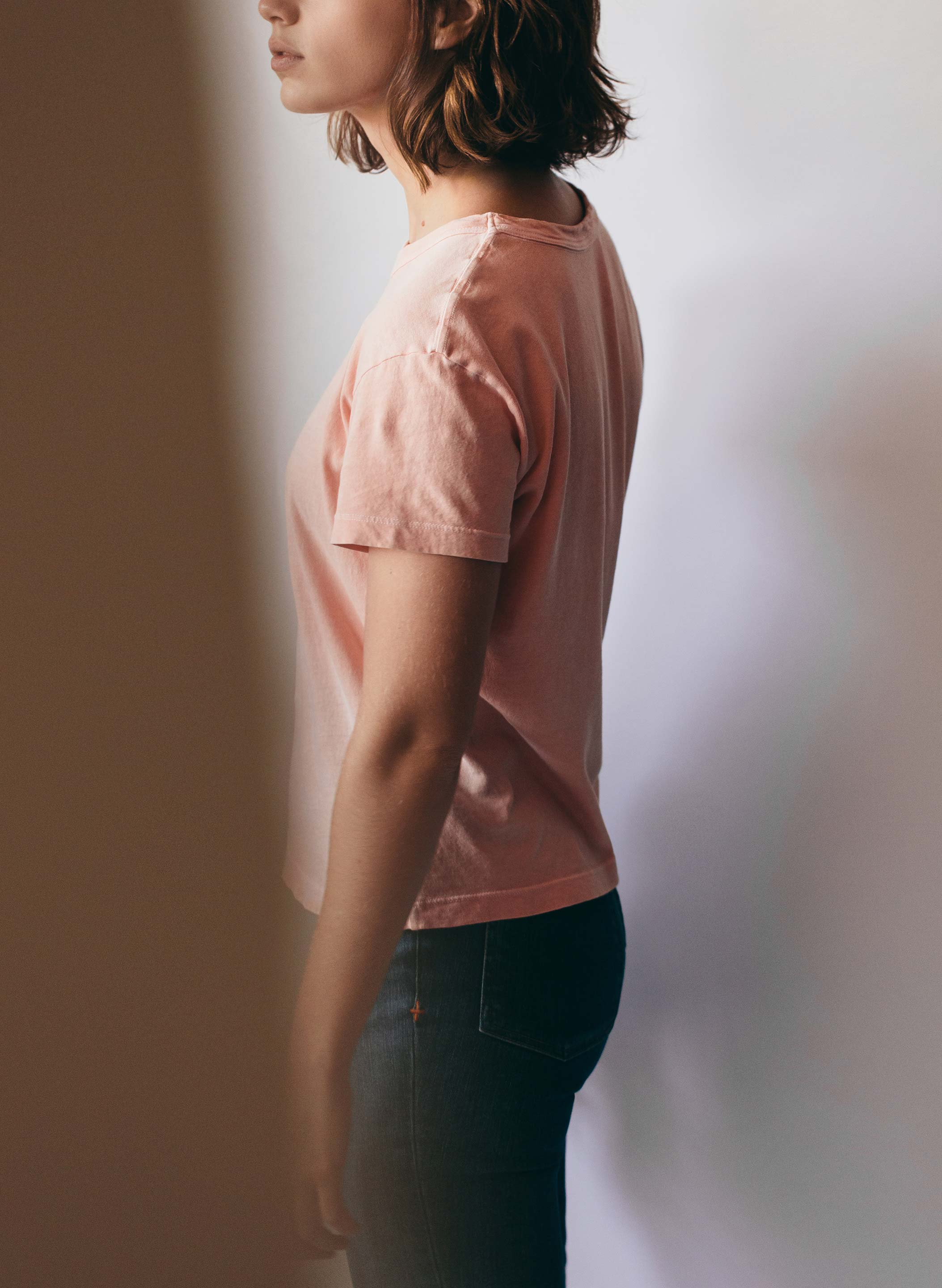 imogene + willie - drop tee in blush
