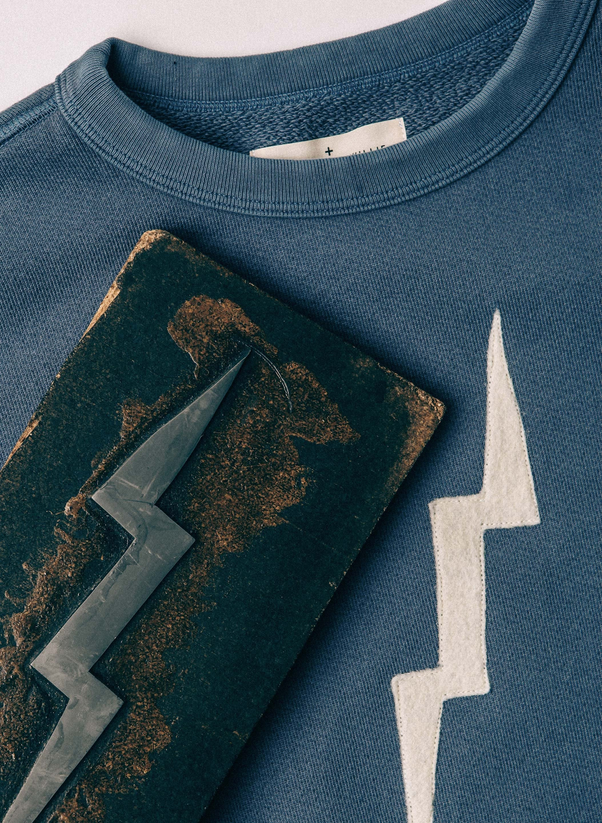 "imogene + willie - Stitched ""bolt"" sweatshirt (pan am blue)"