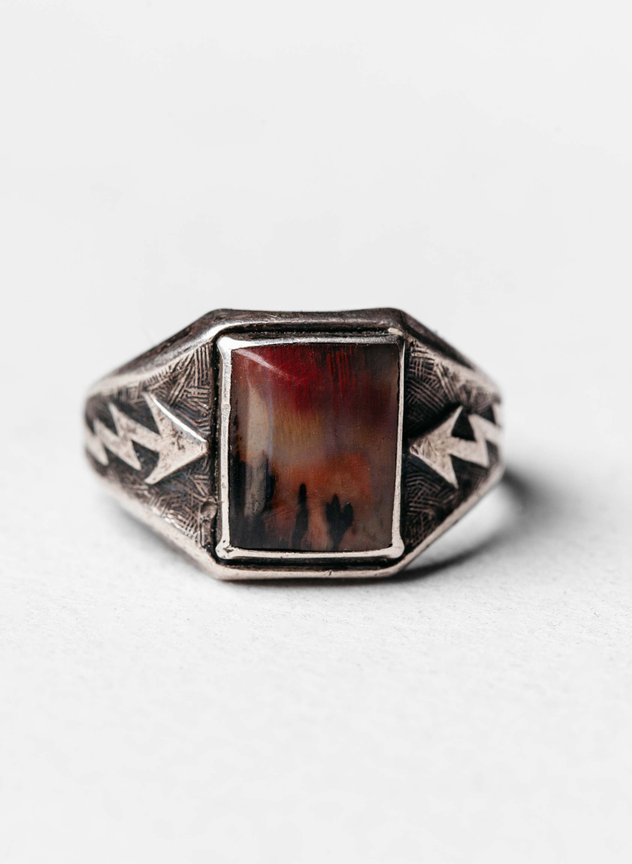 "imogene + willie - vintage ""bolt"" landscape ring"