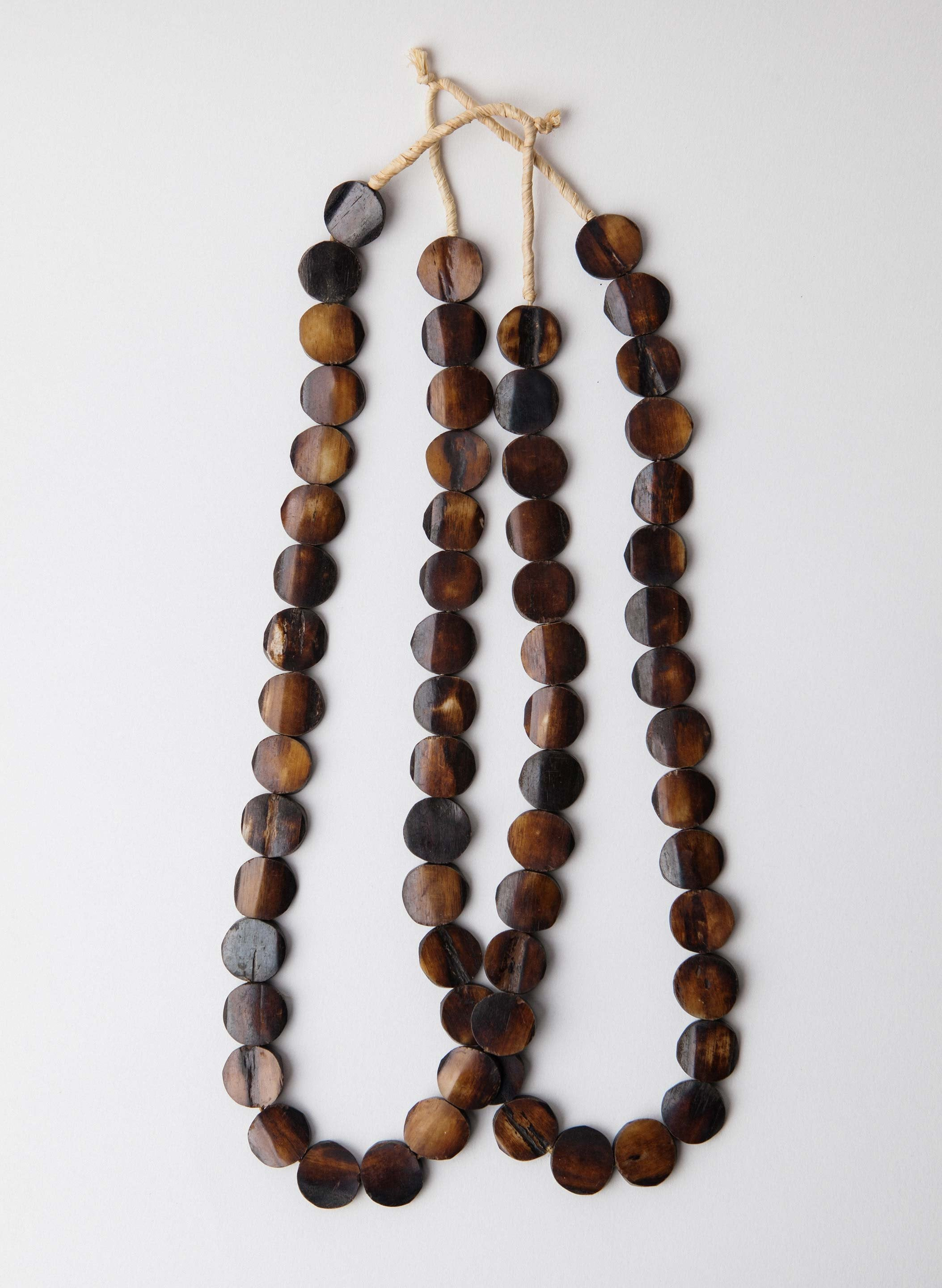imogene + willie - vintage bone beaded necklace
