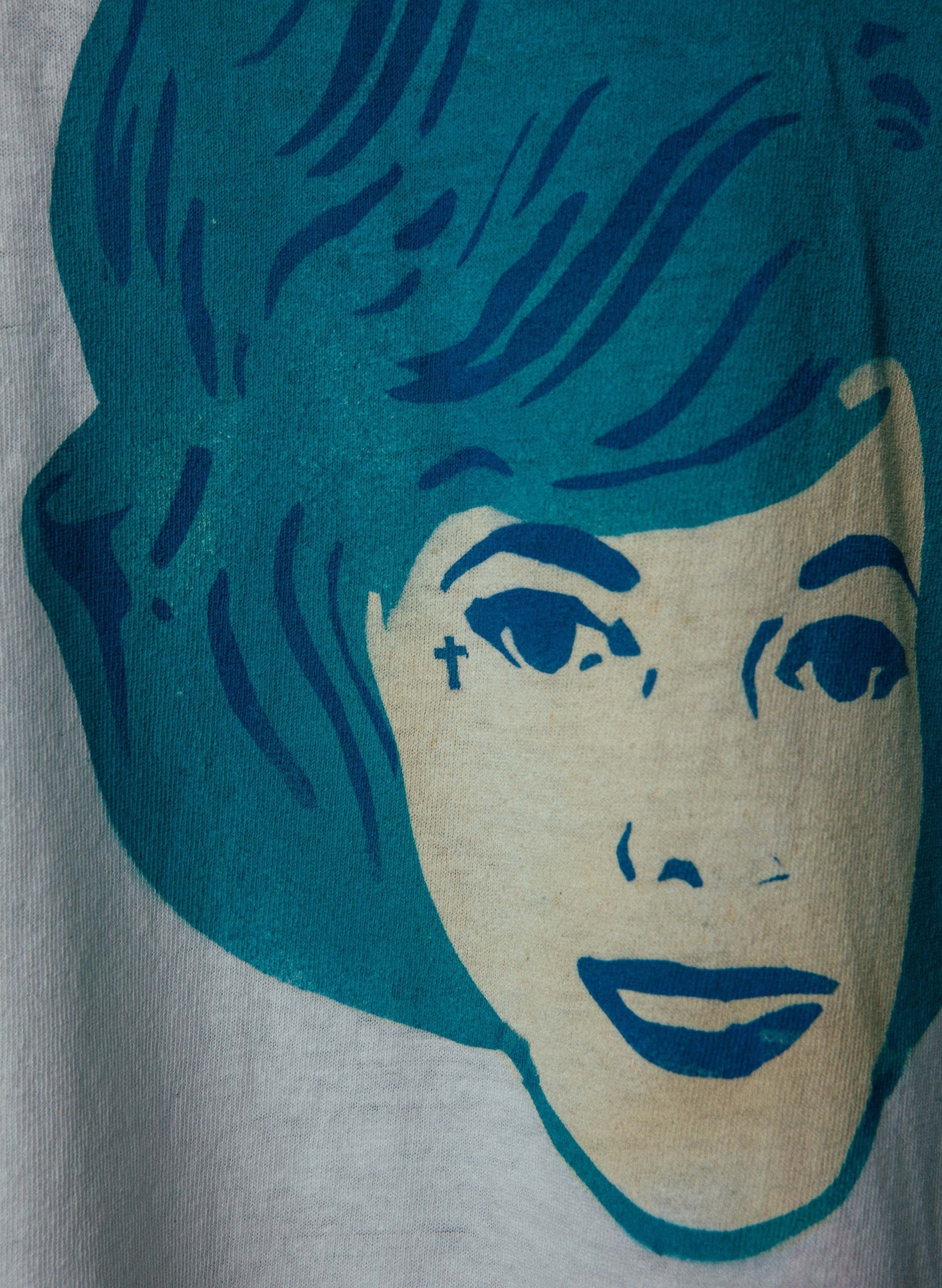 "imogene + willie - hand printed ""born to lose"" tee"