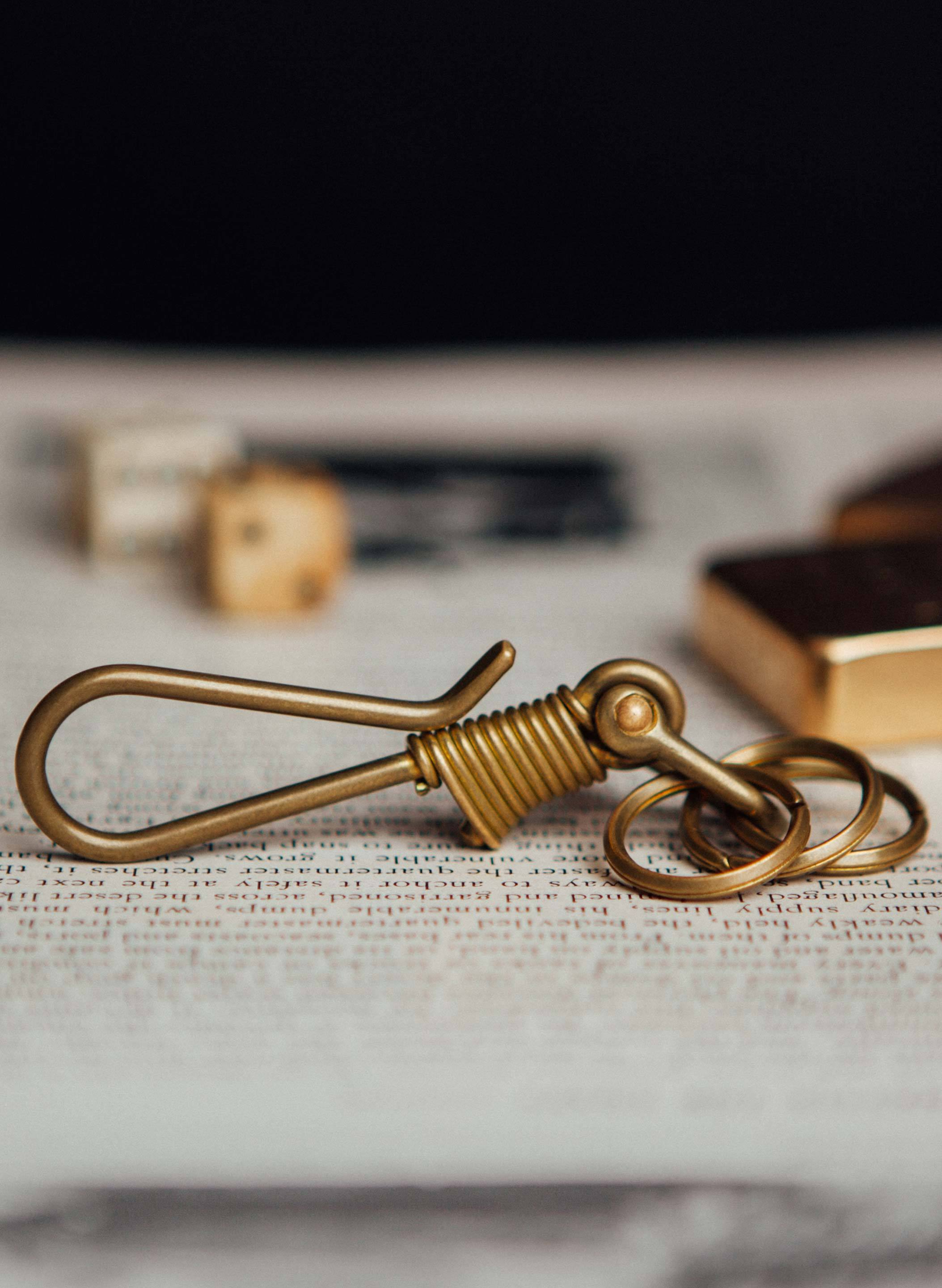 imogene + willie - japanese brass multi-key hook