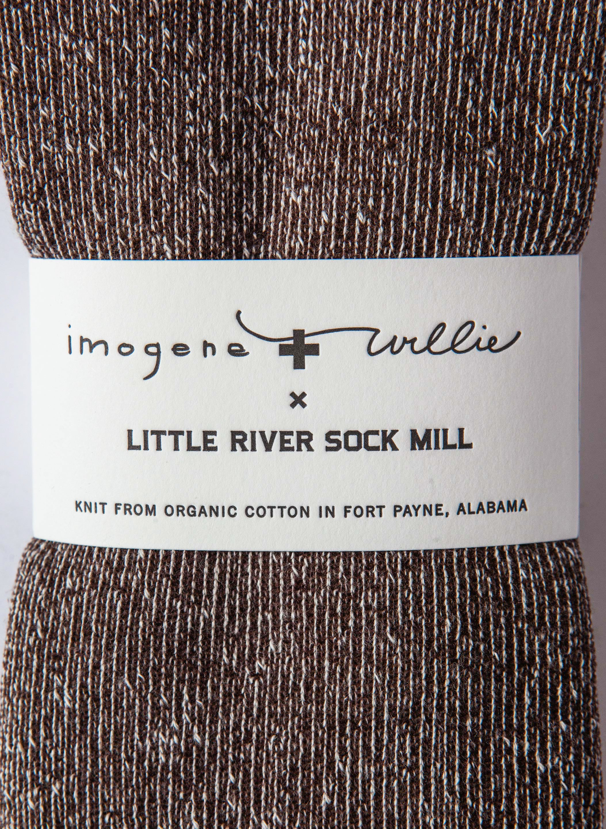 imogene + willie - boot sock in brown