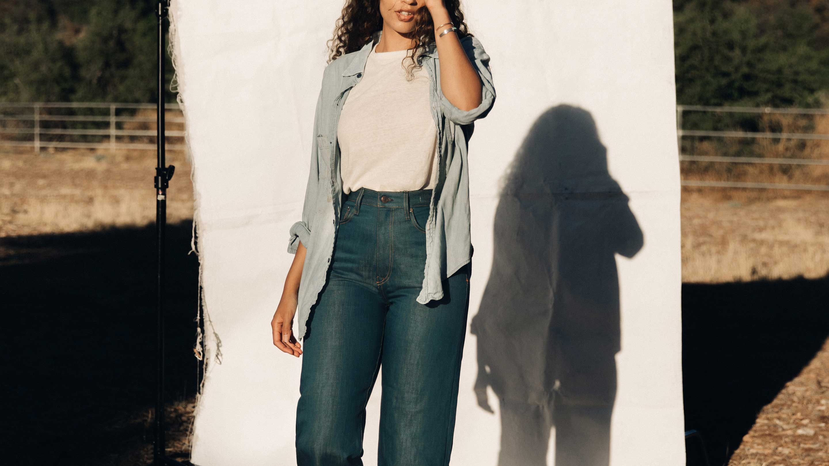 imogene + willie - catherine cotton linen selvage