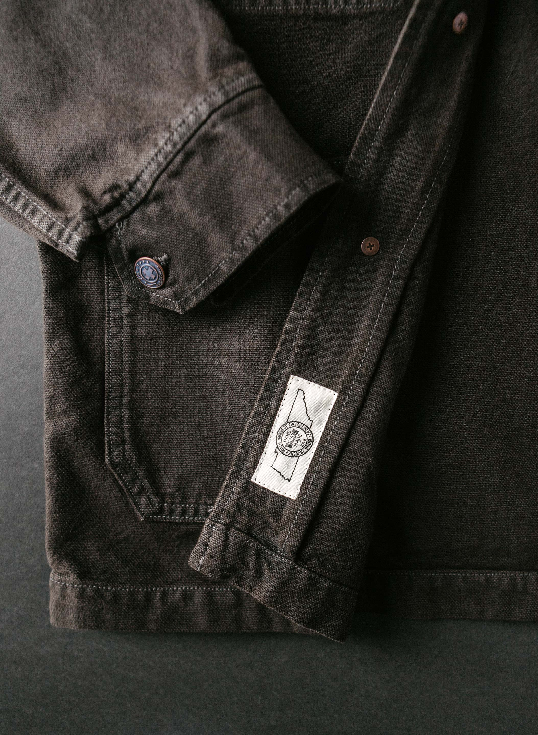 imogene + willie - chainstitch jack overdyed slate jacket