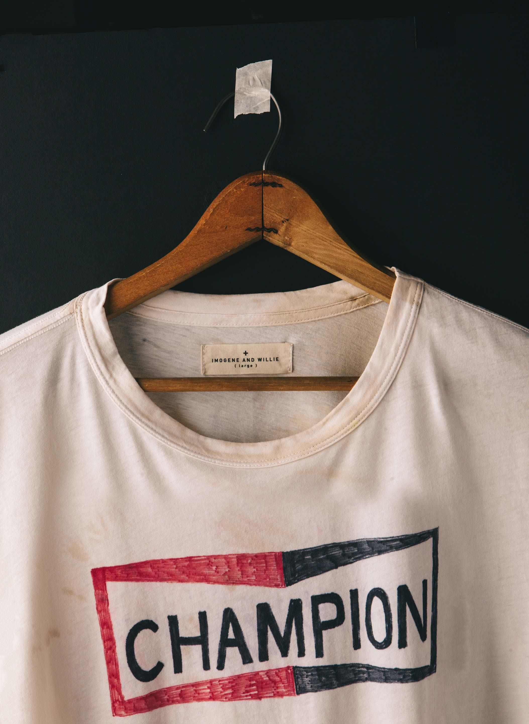 "imogene + willie - handpainted  ""champion"" tee"