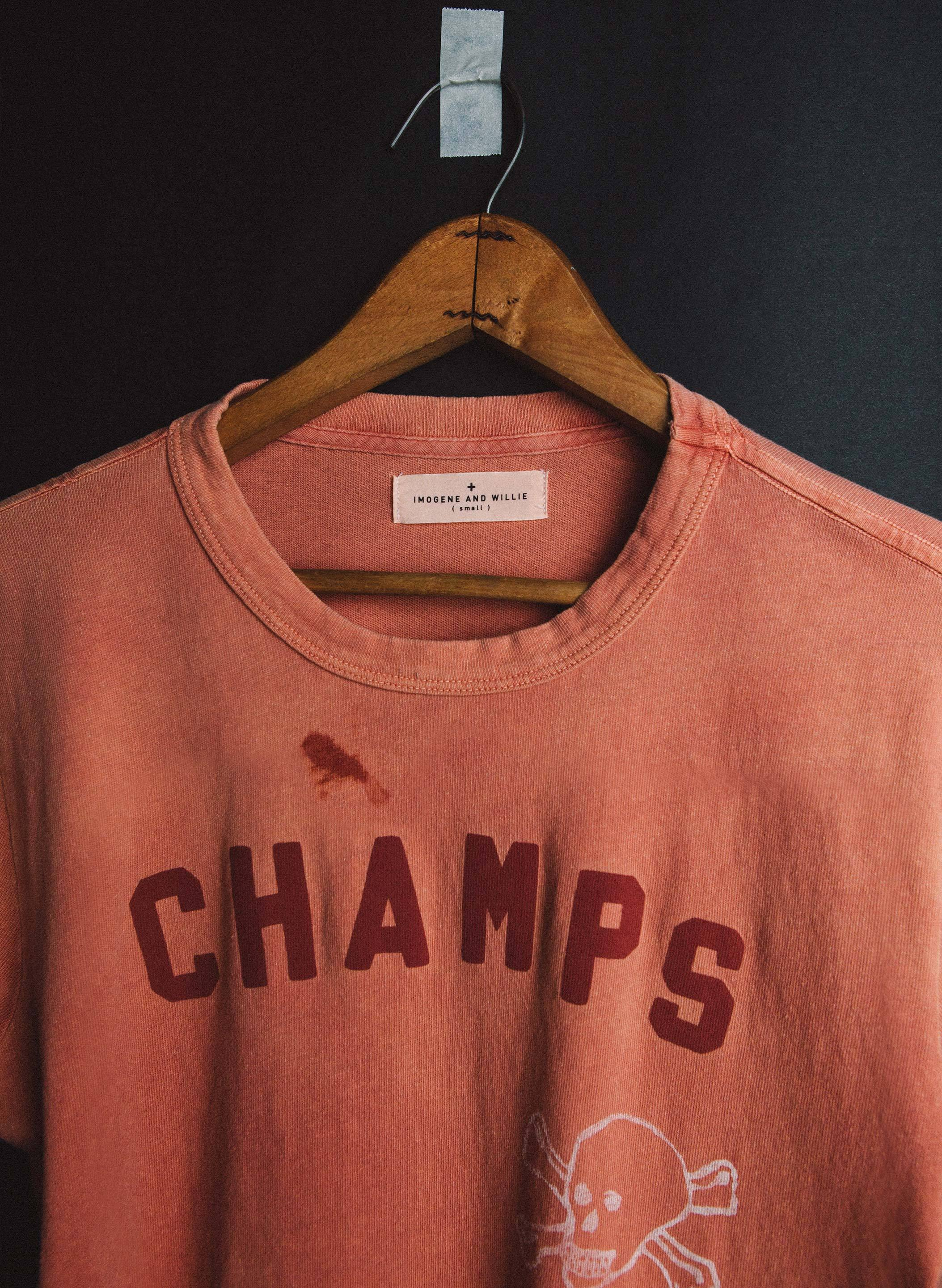 "imogene + willie - painted ""city champs"" tee"